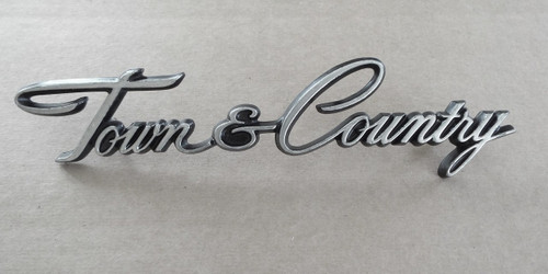 Original 1972-1973 Chrysler Town & Country Fender Emblem-Badge