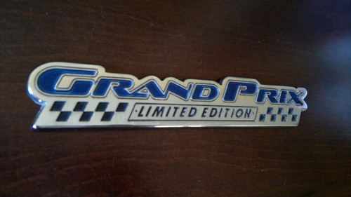 Original 2003 Pontiac Grand Prix Limited Edition Trunk Lid Emblem-Badge