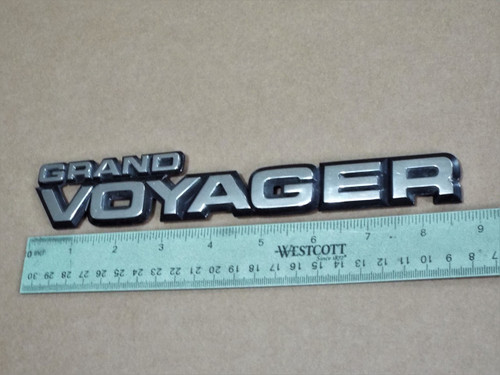 1987-1988-1989 Plymouth Grand Voyager-Grand Voyager Liftgate Emblem-Badge