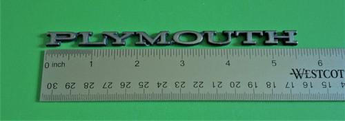 Original 1979-1980-1981-1982-1983-1984-1985 Plymouth Horizon-Plymouth Front Clip Emblem-Badge