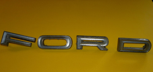 Original 1966-1967 Ford Country Sedan FORD Letters Tailgate Emblem