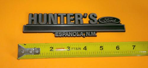 Hunter's Ford Espanola New Mexico Dealership Emblem-Badge