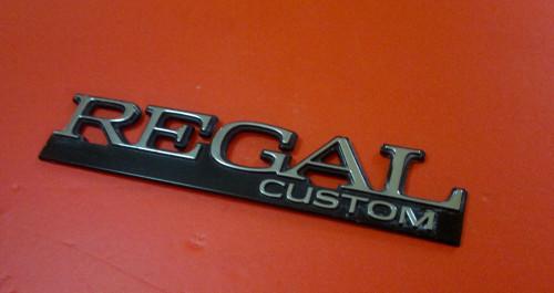 1991-1992-1993-1994 Buick Regal Custom Quarter Panel Emblem-Badge