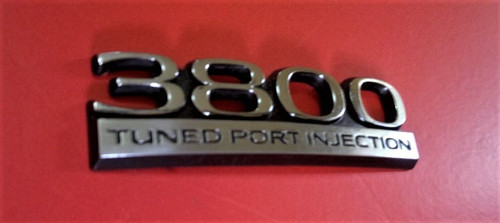1993 Buick Regal 3800 Tuned Port injection Trunk Lid Emblem-Badge 1992 Buick Regal 3800 Tuned Port injection Trunk Lid Emblem-Badge