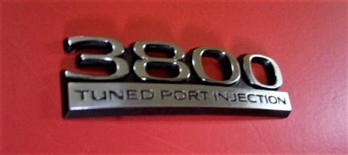 1993 Buick Regal 3800 Tuned Port injection Trunk Lid Emblem-Badge 1992 Buick Regal 3800 Tuned Port injection Trunk Lid Emblem-Badge