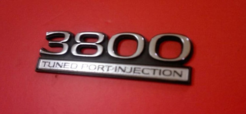 1990-1991 Buick Regal 3800 Tuned Port Injection Fender Emblem-Badge