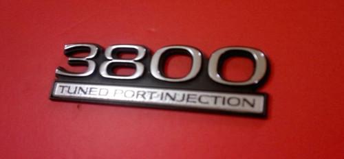 1990-1991 Buick Regal 3800 Tuned Port Injection Fender Emblem-Badge