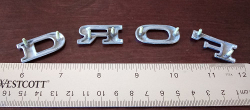 1973-1974-1975-1976-1977-1978 Ford Mustang-Ford Torino-Ford Ranchero FORD Letters Emblem-Badge