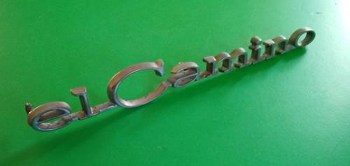 Original 1968-1969 Chevrolet El Camino Quarter Panel Emblem-Badge