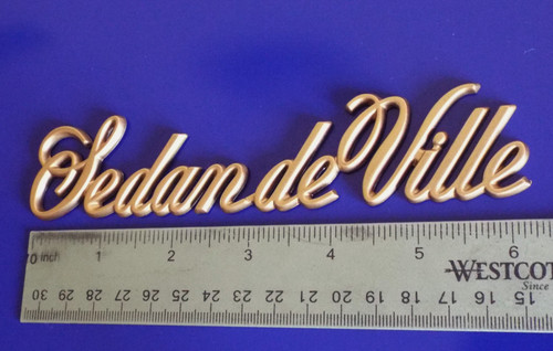 1985-1986-1987-1988-1989-1990-1991-1992 Cadillac Sedan Deville Quarter Panel Emblem-Badge
