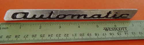 1968-1969-1970-1971-1972 Volvo 164-Volvo 144-Automatic Callout Trunk Lid Emblem-Badge
