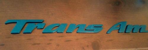 Original 1995-1996 Pontiac Trans Am Door Emblem-Aqua