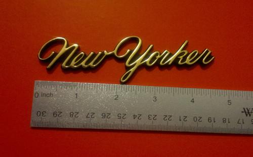 Original 1988-1989-1990-1991-1992-1993 Chrysler New Yorker Sail Panel Emblem-Badge