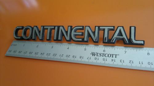 1990-1991-1992-1993 Lincoln Continental Trunk Lid Emblem-Badge-Nameplate