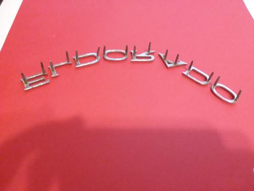Original GM 1977 Cadillac Eldorado-ELDORADO Letters Hood Emblem