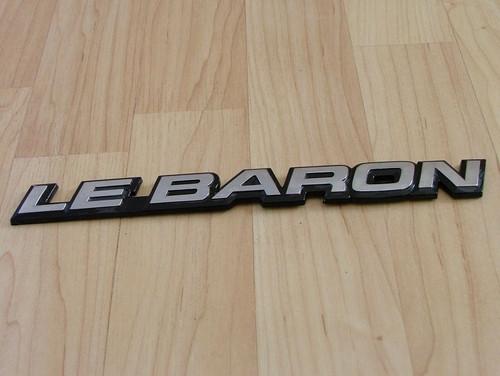 1986-1987-1988-1989-1990-1991 Chrysler Lebaron-Lebaron Emblem-Badge