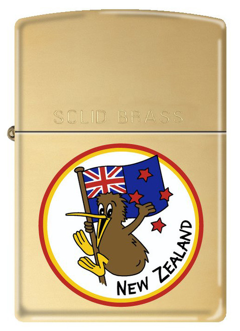 NZ Funny Kiwi [High Polish Brass]