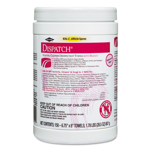 Clorox Dispatch hospital cleaner disinfectant towels wipes
