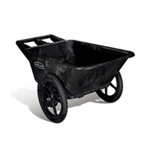 Rubbermaid 5642bla big wheel cart wheel barrow 7.5