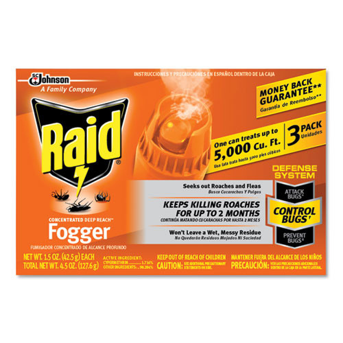 Raid concentrated deep reach fogger sjn305690 insecticide