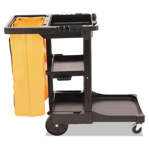 Rubbermaid 617388bla janitor cart 2000 with vinyl bag