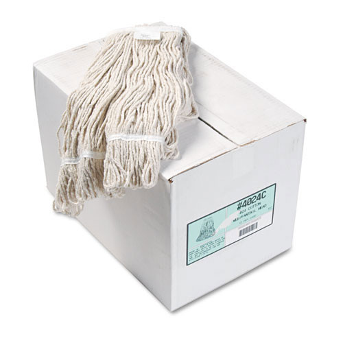 Boardwalk BWK4024CCT cotton looped end fantail wet mop