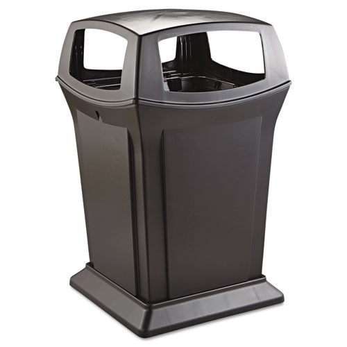 Rubbermaid 917388bla Ranger trash cans 45 gallon Ranger