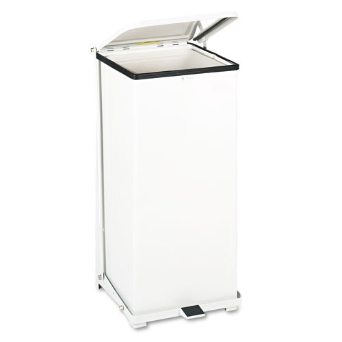 Rubbermaid st24eplwh step on trash can 24 gallon