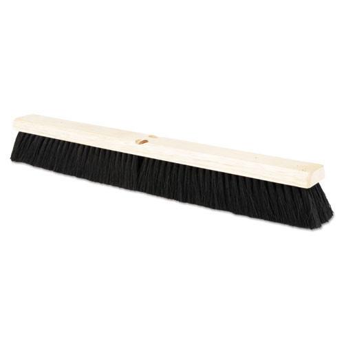 Boardwalk BWK20224 push broom 24 inch hardwood block