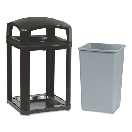 Rubbermaid 3970sab trash cans 35 gallon Landmark container