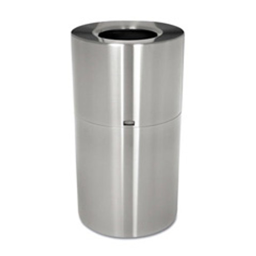 Rubbermaid aot35sapl trash can aluminum atrium 35 gallon