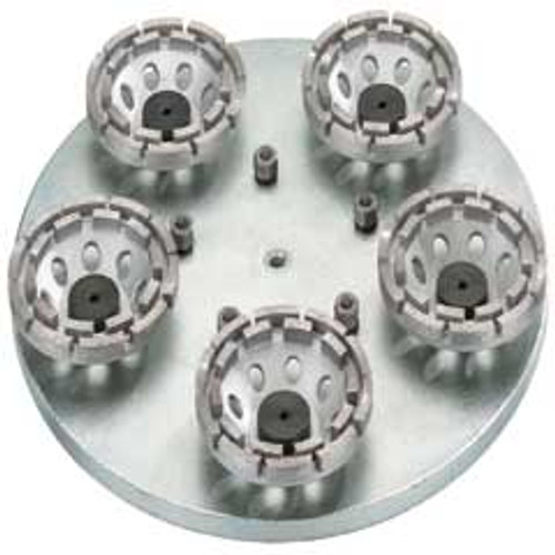 Floor scrubber diamond wheel disc set with five