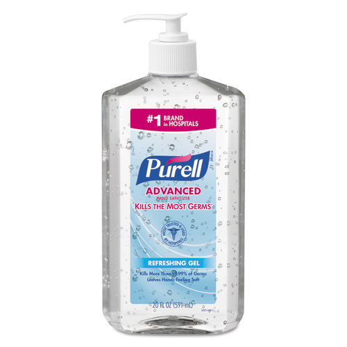Purell GOJ302312 advanced instant hand sanitizer 20oz pump