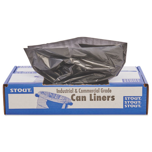 Stout STOT5051B15 100 percent recycled plastic garbage bags
