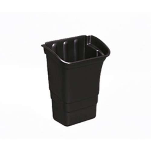 Rubbermaid 335388bla bus cart refuse bin 8 gallon