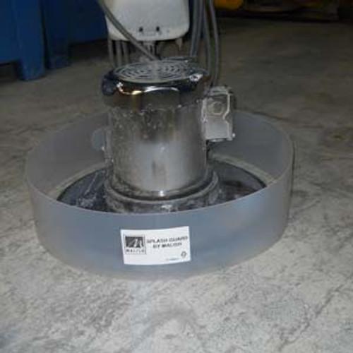 Floor scrubber splashguard ring SWINGS fits most machines