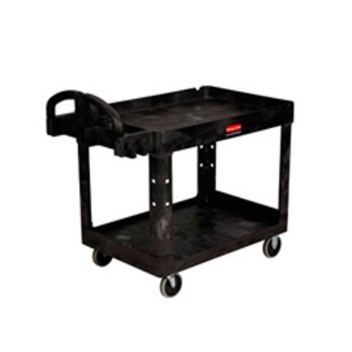 Rubbermaid 4546bla heavy duty utility cart with non