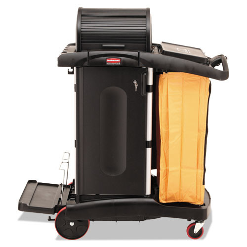 Rubbermaid 9t75 microfiber janitor cart high security
