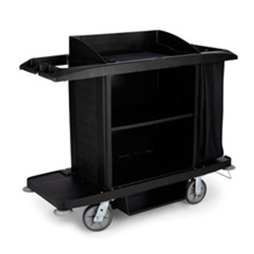 Rubbermaid 6189bla hotel maids housekeeping cart full size