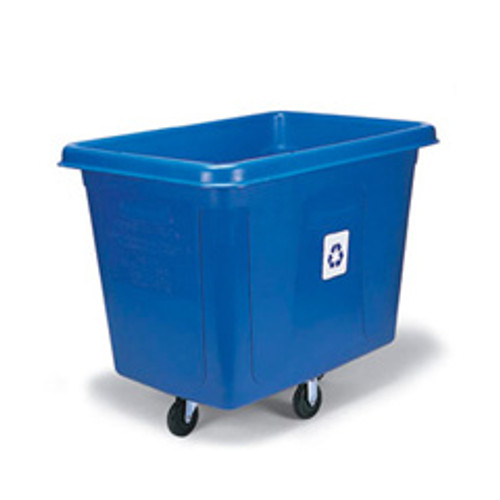 Rubbermaid 461673blu recycling cube utility truck 16 cubic
