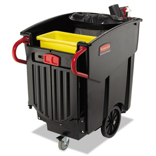 Rubbermaid 9w73bla mega Brute wheeled mobile waste collector