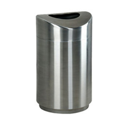 Rubbermaid r2030sspl trash can steel eclipse rounded open