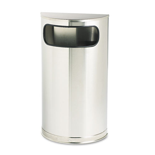 Rubbermaid so8ssspl trash can steel half round container