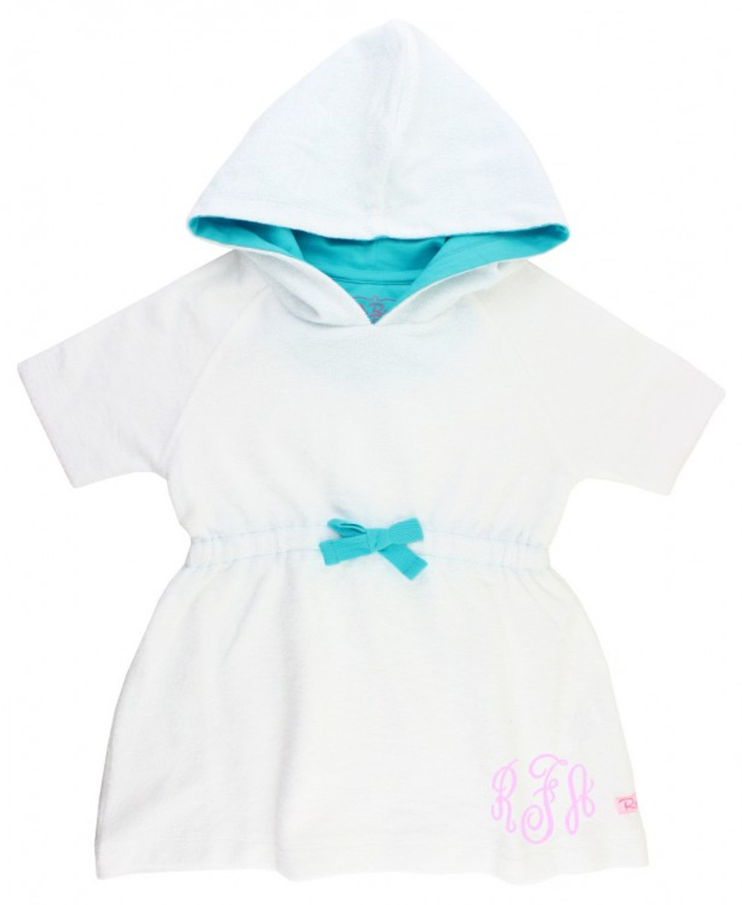 RuffleButts White Terry Cover-Up - Size 12-18 months
