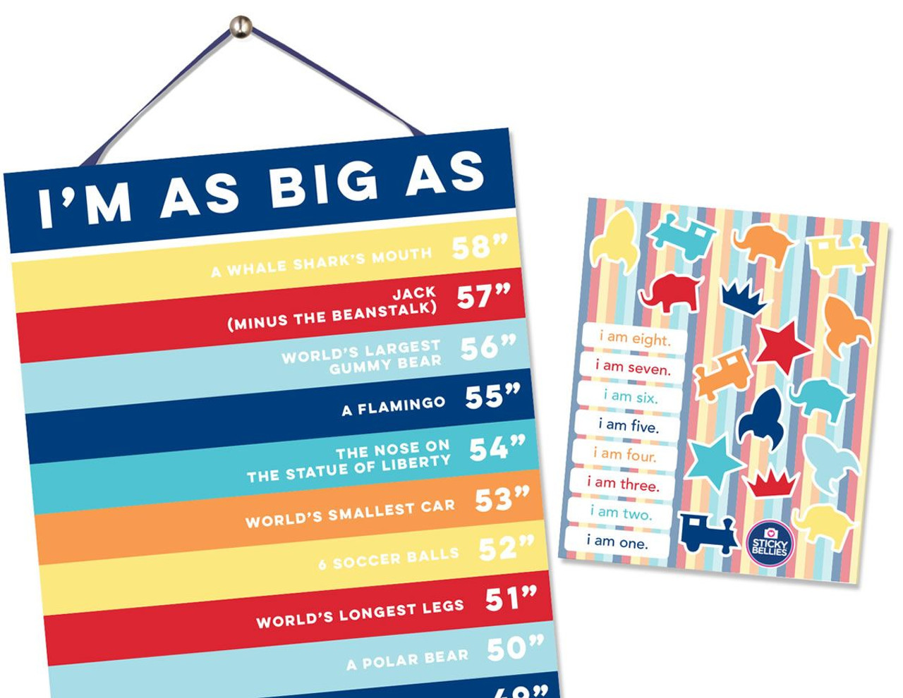 HAPPY HEIGHTS Growth Chart for BOYS by Sticky Bellies