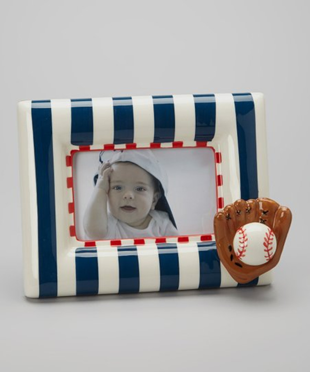 Baseball Picture Frame by Mud Pie