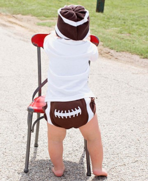 Rugged Butts Football Diaper Cover (6-12months)