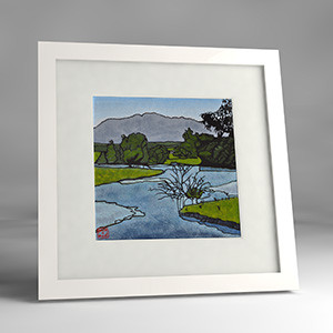 bellinger river framed print