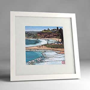 mona vale - bay to beach framed print