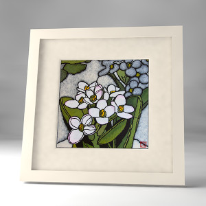 spiked rice flower  framed print